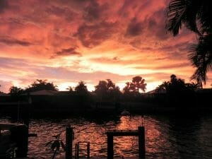 Gorgeous Sunset in Marco Island FL from my Dock