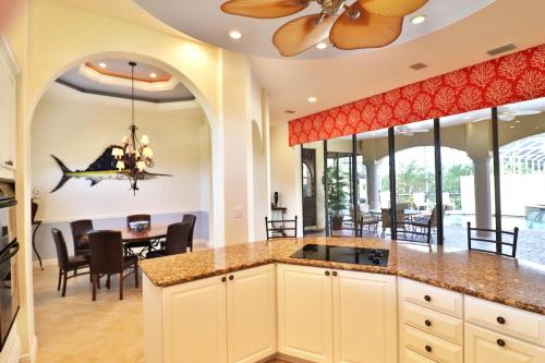 1781 Barbados Kitchen Island and Dining Room - Lanai